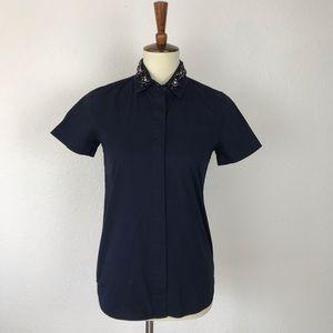 J. Crew Jeweled Collar Button Down Shirt